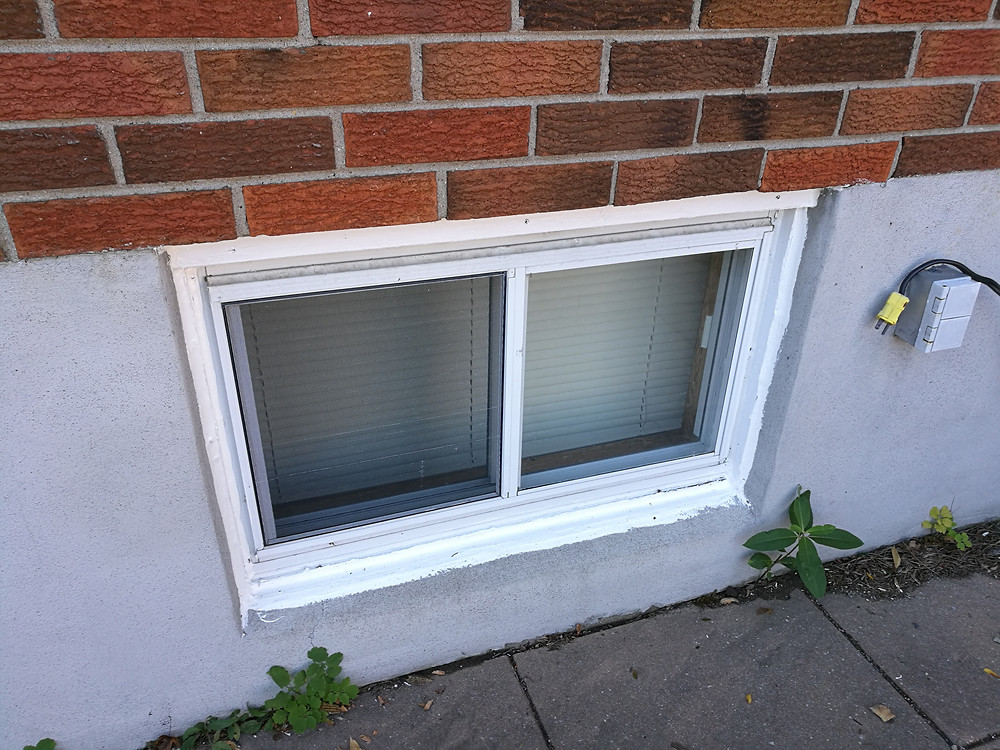 Repaired Window Frame With New Caulking