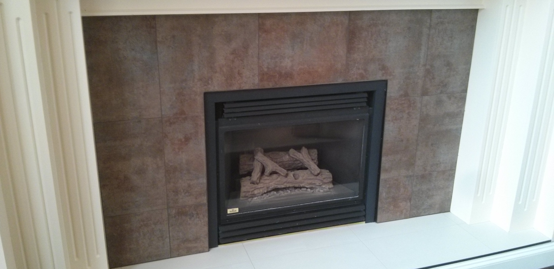 Fireplace Tile on Hearth and Face