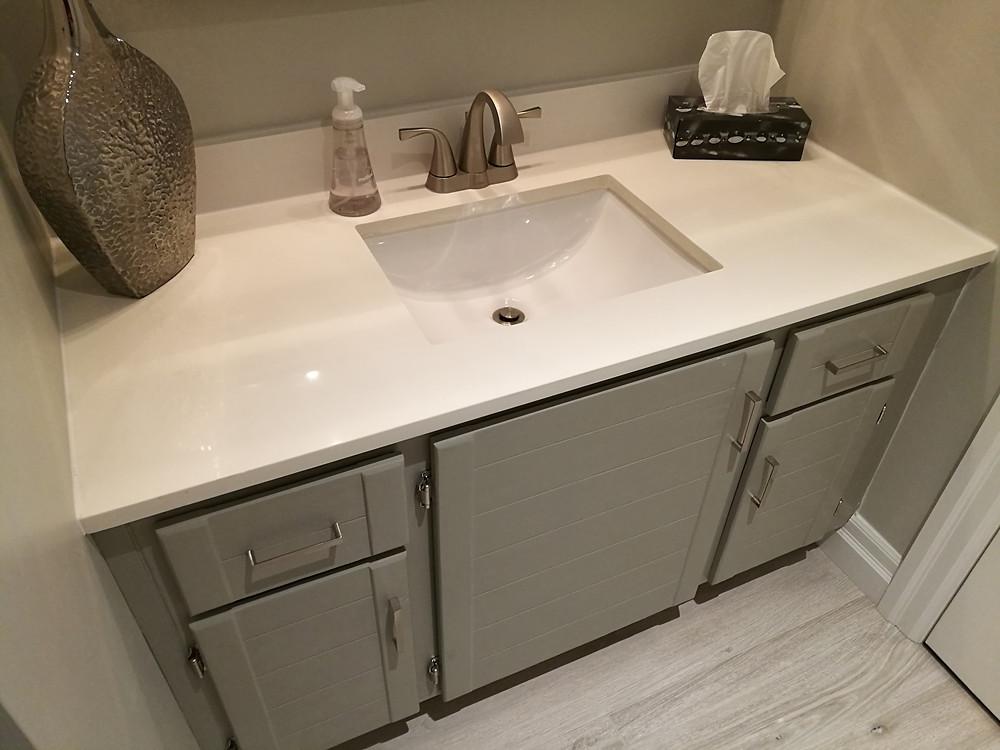 Remodeled Bathroom with Quartz Countertop