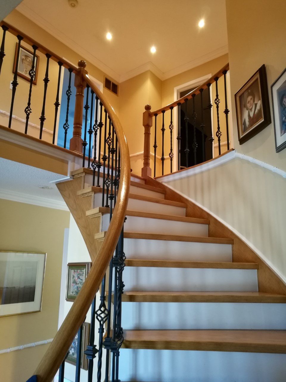 Remodeled Oak Staircase