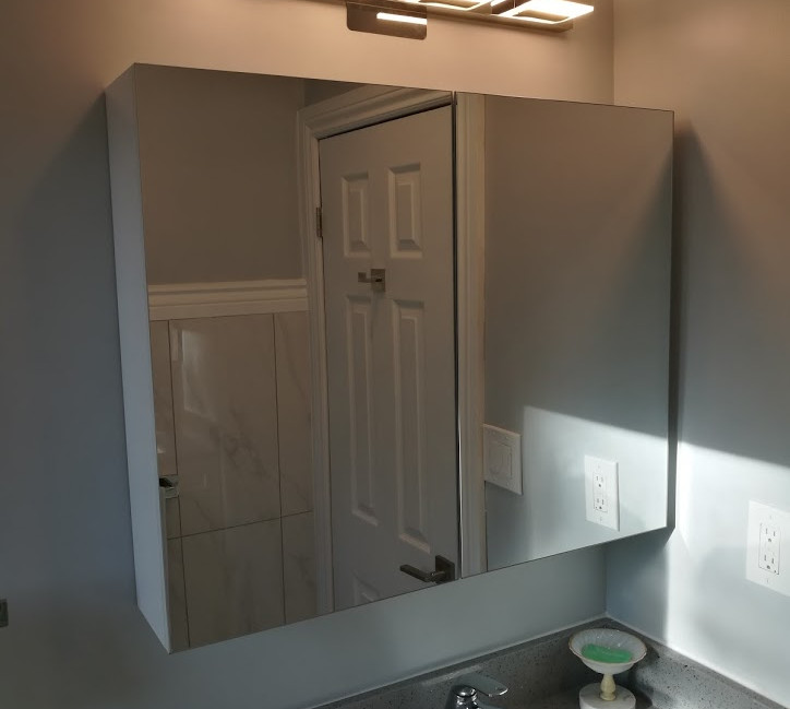 Wall Mirror And Light