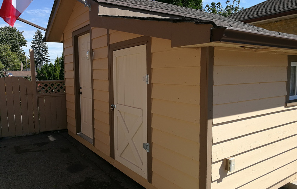 Newly Repainted Shed