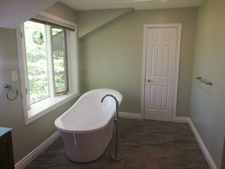 Consider a freestanding tub for your bathroom renovation