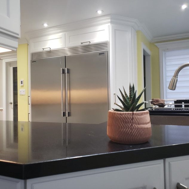 Stainless Steel Column Refrigerator Freezer