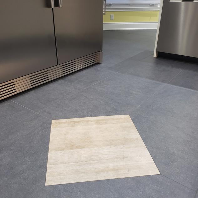 Floor Tile Diamond Inlay