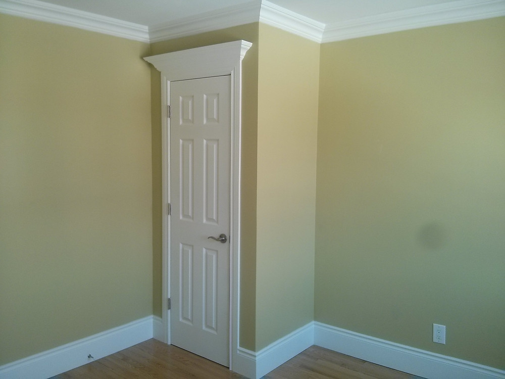 New baseboards and trim