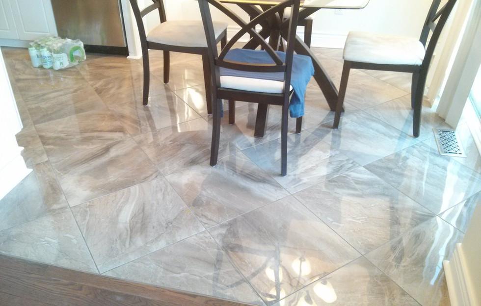 18x18 Porcelain Tile Diagonal Lay