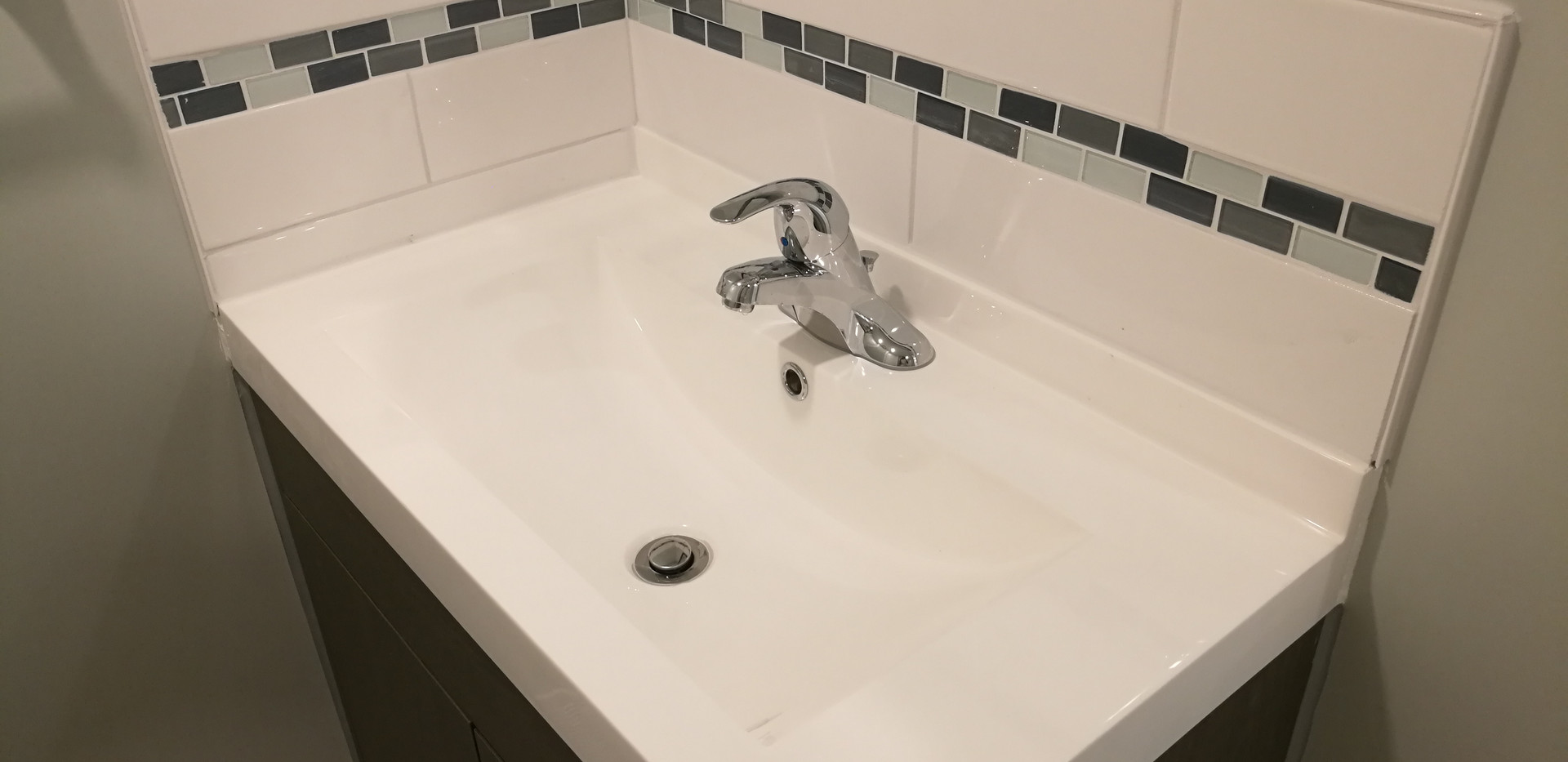 New Sink With Matching Backsplash