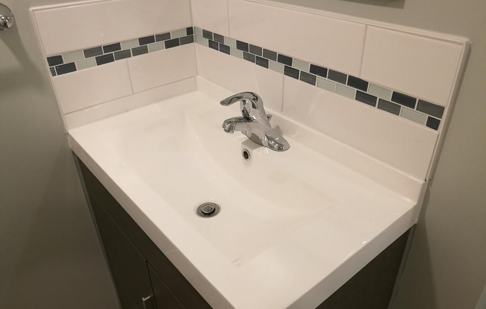 New Sink With Matching Backsplash