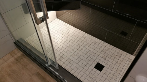 Porcelain Tiled Shower