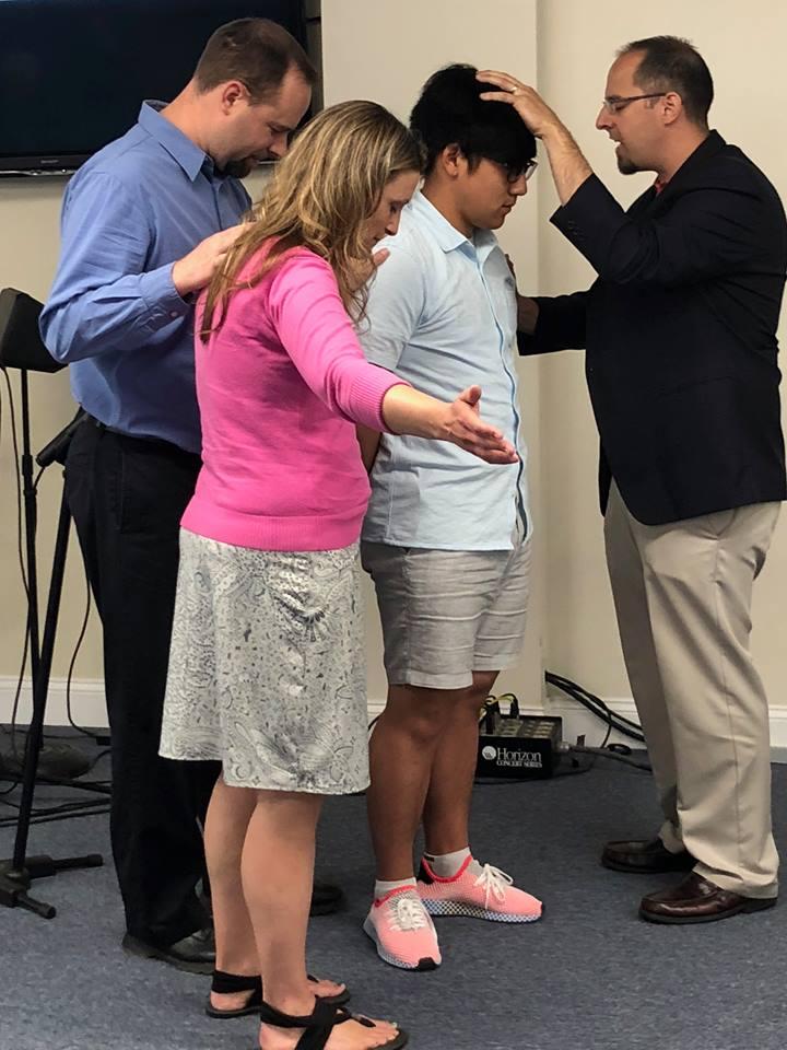 Pastor Adam with Caleb Pan June-2018