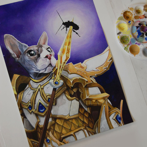 Puss, the Warrior