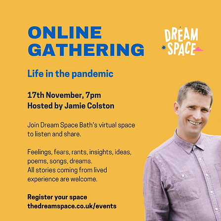 Life in the pandemic with Jamie Colston.
