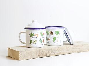 tree identification enamel mug rolfe and