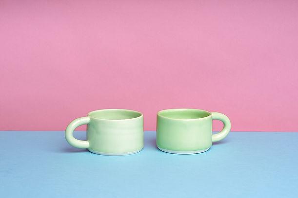 Lime Green Mug -  Round About Ceramics.j