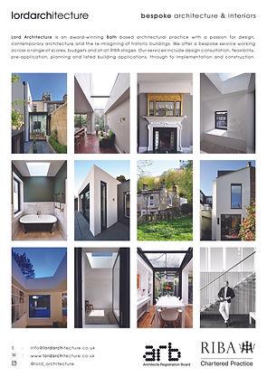 LORD ARCHITECTURE INBATH ADVERT OCT 2020