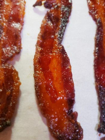 Smoked Tomato Jam Candied Bacon