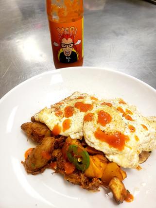 YEP! Sauce #5 was made for breakfast!