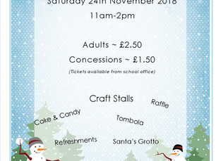 Forthcoming Christmas Fair