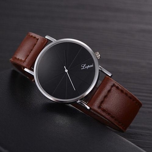 Simple Business Men Watches Fashion Men's Leather Belt Analog Sport Quartz Wrist