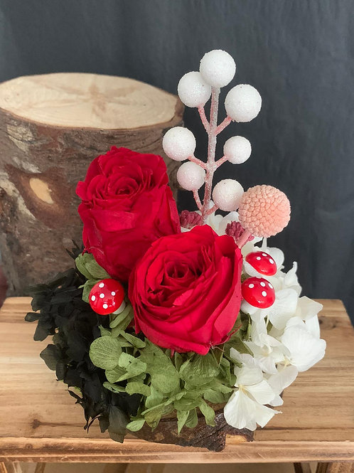 Preserved Rose with Hydrangeas Deco