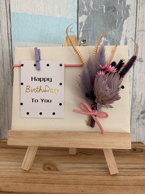 Mini Canvas with floral and message card