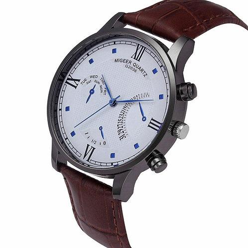 New Retro Design Top Brand Luxury Leather Band Analog Alloy Quartz Wrist Watch