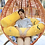 Thumbnail: 68/110cm Gudetama lazy egg Long Pillow Plush Toy Eggs jun Egg yolk brother