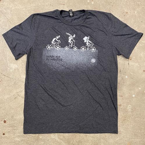 Warmer in Winter - Winter Bike T-shirt