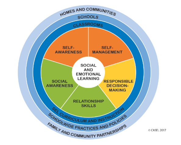 Image of the social and emotional learning wheel