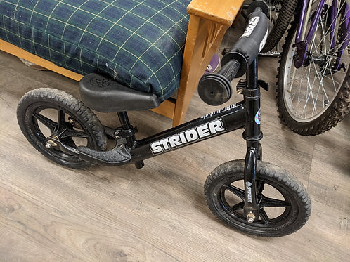 Youth Strider Pro Balance Bike Black