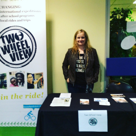Representing Two Wheel View at a youth event.