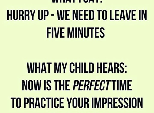 Toddler timings .....