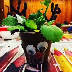 #Christmas reindeer planter