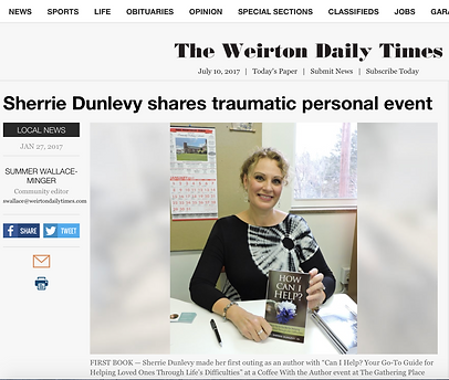 Sherrie Dunlevy Article