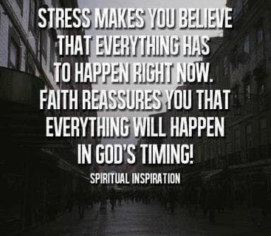Stress vs. Faith