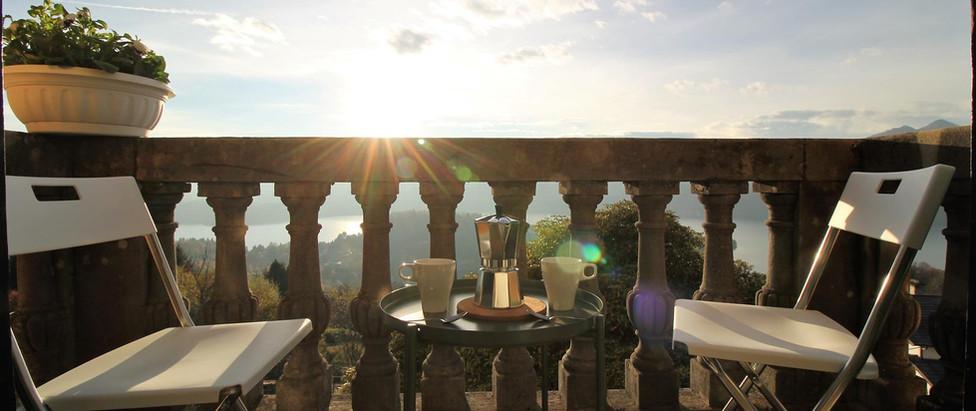 Bellavista balconcino con tramonto
