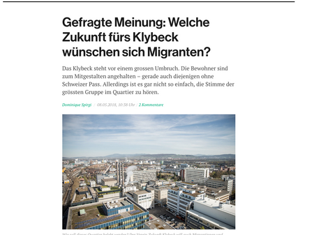 Auswertung Migranten Workshop - 5.Mai 2018