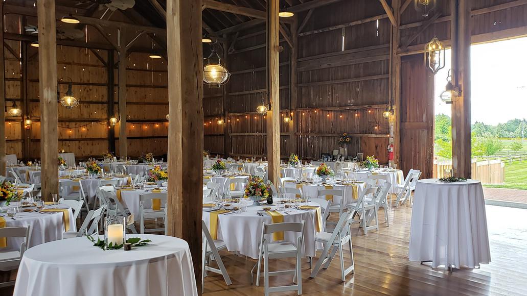 Wedding set at Historic Case Barlow Farm's Barn