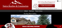 Native Roofing Website Design