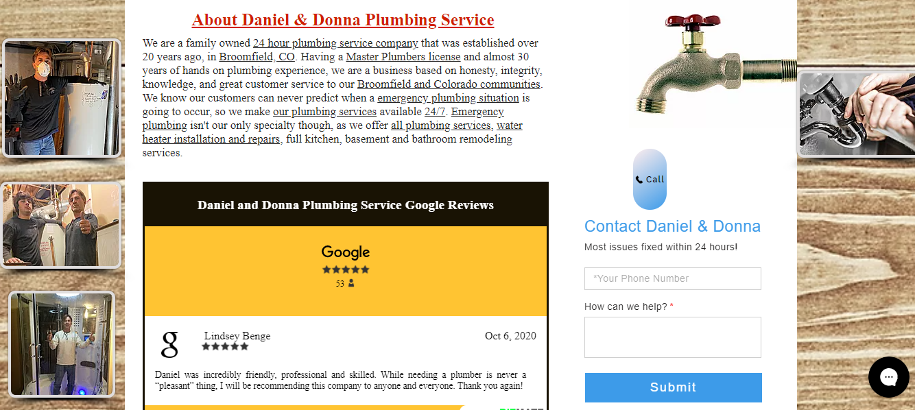 Daniel and Donna Website Design