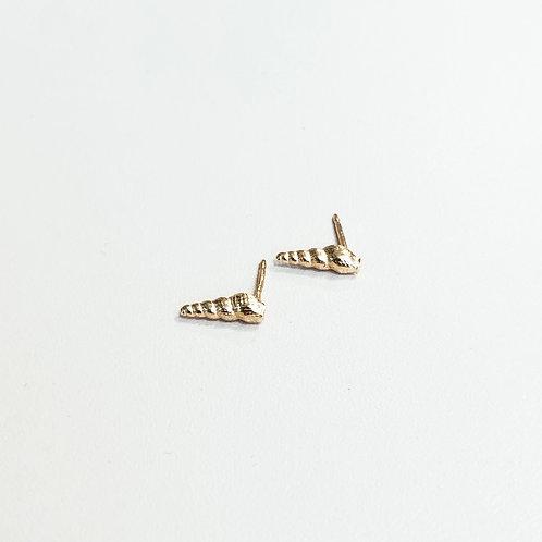 עגילי מרמייד צמודים זהב