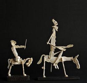 Cover Don Quixote and Sancho Panza 10x19cm,פיסול, בוריס צלניקר,  boris tselnicker, борис цельникер