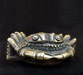 Crab 4x6x6cm. Bronze, Boris Tselnicker,בוריס צלניקר,Борис Цельникер