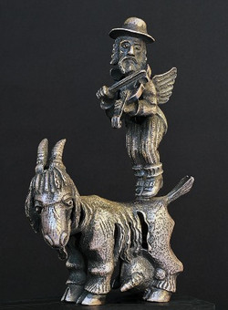 Fiddler with Goat