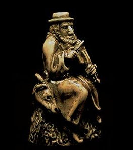 Old Fiddler on a Goat,פיסול, בוריס צלניקר,  boris tselnicker, борис цельникер