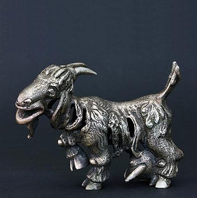 Goat, 6.5cm. Silver, Boris Tselnicker,בוריס צלניקר,Борис Цельникер