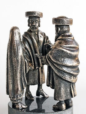 Chuppah - the Couple with the Rabba silver. יודייקה, פיסול, בוריס צלניקר,  boris tselnicker, борис цельникер