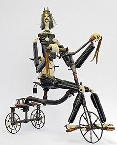 Cover Devil on a Bicycle 40cm,פיסול, בוריס צלניקר,  boris tselnicker, борис цельникер