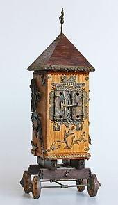 Besamim Spice Tower (28x11x10cm. Wood, Copper, Brass. 2005,פיסול, בוריס צלניקר,  boris tselnicker, борис цельникер